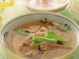 养肝护肝食谱之猪肝枸杞子汤的做法