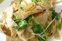孕妇食谱之凉拌豆腐皮