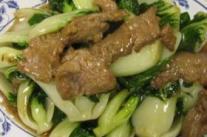 女性产后养生食谱之油菜炒牛肉