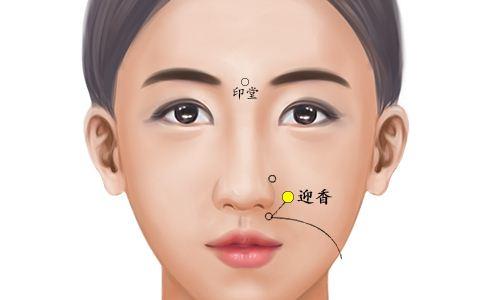 迎香穴位的准确位置图 迎香穴的准确位置图 迎香穴准确位置图