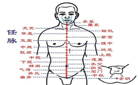 任脉穴穴位的准确位置图