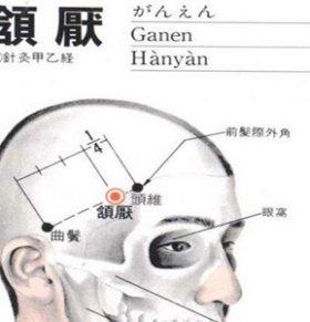 颌厌穴的准确位置图 颌厌穴的具体位置在哪里 颌厌穴位于哪里