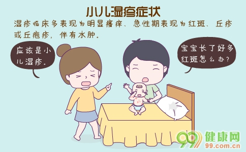 小儿湿疹症状 小儿湿疹的原因 小儿湿疹如何治疗