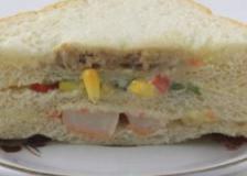 菠菜蛋饼三明治的做法,菠菜蛋饼三明治,补叶酸食谱