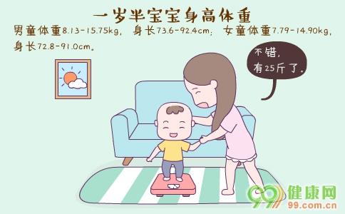 一岁半宝宝身高体重 一岁宝宝半护理要点 一岁半宝宝发育营养建议
