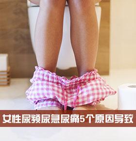 女性尿频尿急尿痛是怎么回事 5个原因导致