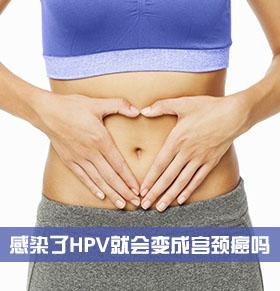 女性感染了HPV就会变成宫颈癌吗