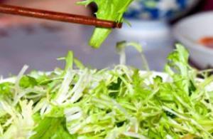 简易苦菊菜的做法 可凉拌可炒蛋