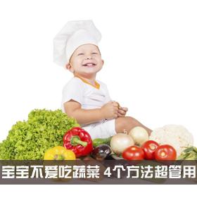 宝宝不爱吃蔬菜不用急 这4个方法超管用