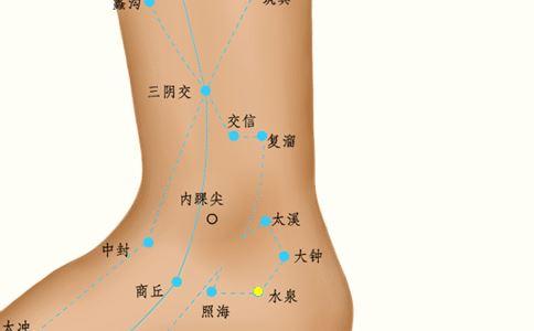 太溪穴道位置图_水泉穴位的准确位置图_穴位图_中医_99健康网
