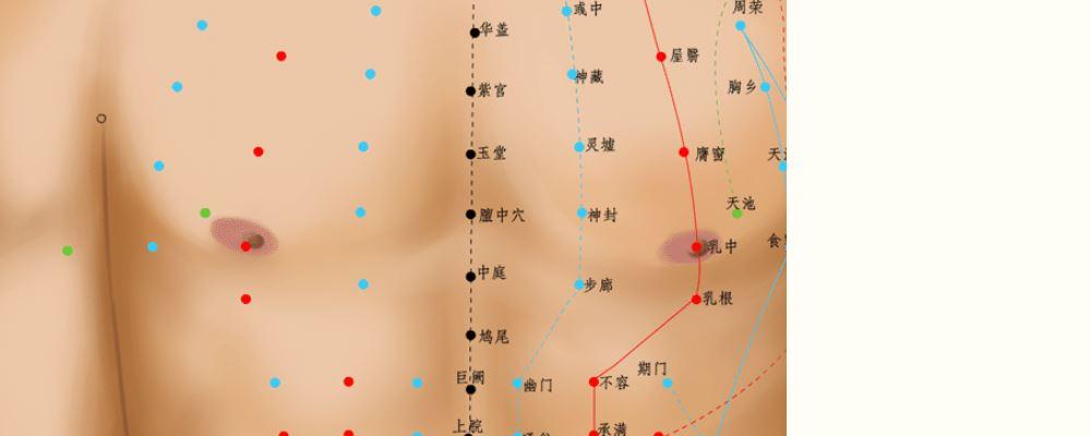 膻中穴位的准确位置图 膻中穴的准确位置图 膻中穴位位置图
