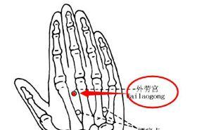 外劳宫穴的功效与作用,按摩外劳宫穴位的作用,外劳宫穴穴位配伍