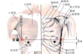 食窦穴的功效与作用,食窦穴的准确位置图,按摩食窦穴的作用