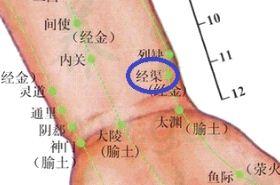 经渠穴的功效与作用,经渠穴的准确位置图,按摩经渠穴的作用