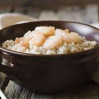 孕期营养食谱 田园鲜虾粥的做法